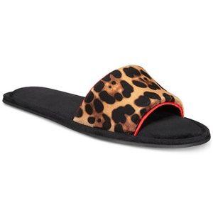 INC Velvet Animal Print Slide Slippers Med 7 - 8